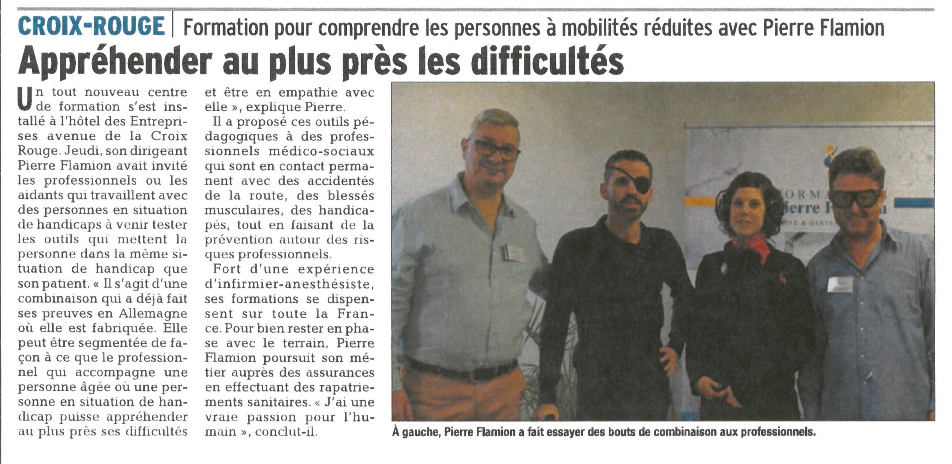 Les Formations Pierre Flamion, on en parle ! Merci au Journal Vaucluse Matin.